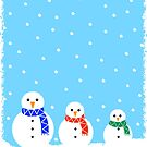 Christmas Snowmen by Adam Regester