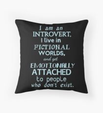 introvert, fictional worlds, fictional characters #2 Throw Pillow
