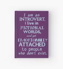 Cuaderno de tapa dura mundos introvertidos, ficticios, personajes ficticios # 2