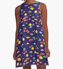 Pixel Fish A-Line Dress