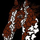 Camo Horse - Paint - Brown edge by HiddenChamber