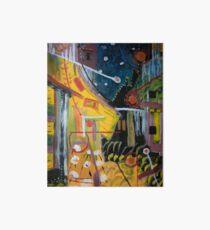 Cafe Terrace at Night a la Mela Art Board Print
