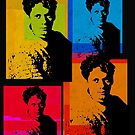DYLAN THOMAS, WELSH POET - ANDY WARHOL STYLE 4-UP COLLAGE ILLUSTRATION by Clifford Hayes