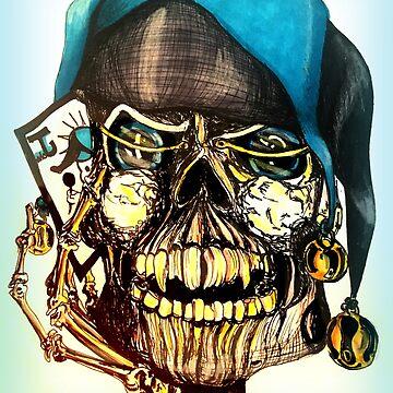 Original Joker Skull Drawing by Mastiff-Studios