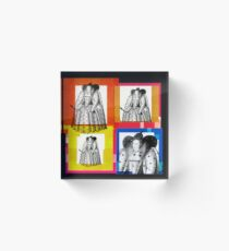 QUEEN ELIZABETH THE FIRST, OF ENGLAND - WARHOL STYLE 4-UP COLLAGE ILLUSTRATION Acrylic Block
