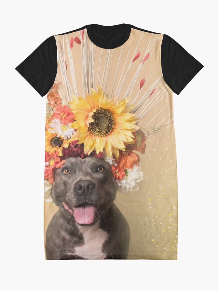 Alternate view of Flower Power, Holiday Graphic T-Shirt Dress