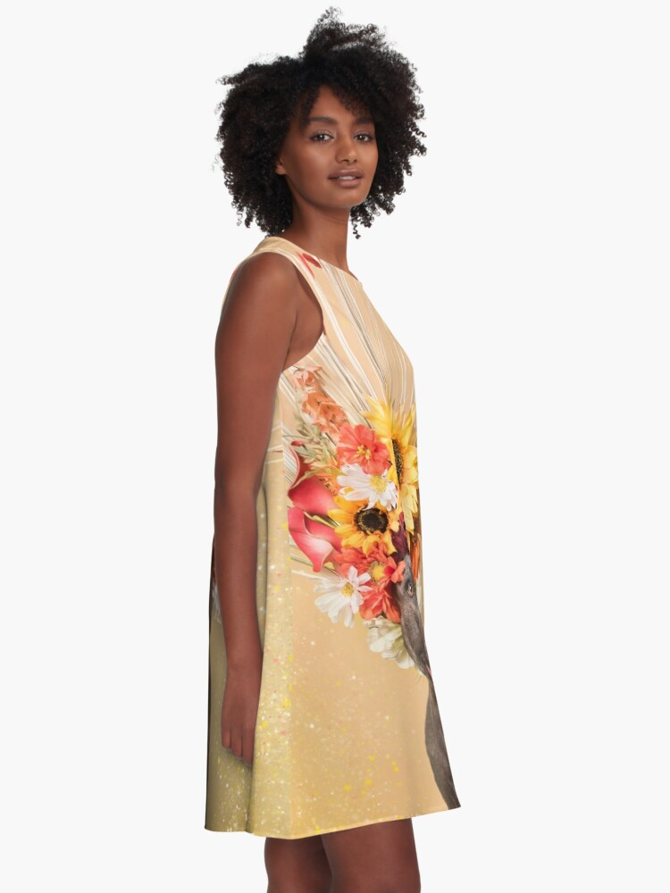 Alternate view of Flower Power, Holiday A-Line Dress