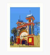 Luna Park Melbourne Art Print