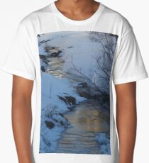 Evening Sky Reflected In Ice Long T-Shirt