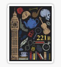 Sherlock Holmes Pattern Sticker
