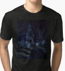 Sleepy Hollow Churchyard Cemetery Tri-blend T-Shirt