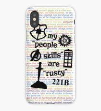 """My """"People Skills"""" are """"Rusty"""" V2 iPhone Case"""