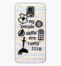 """Meine """"People Skills"""" sind """"Rusty"""" V2 Hülle & Klebefolie für Samsung Galaxy"""