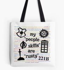 """My """"People Skills"""" are """"Rusty"""" V2 Tote Bag"""