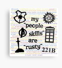 "My ""People Skills"" are ""Rusty"" V2 Metal Print"