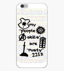 "My ""People Skills"" are ""Rusty"" iPhone Case"