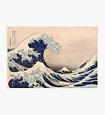 Klassische japanische große Welle weg von Kanagawa durch Hokusai-Wand-Tapisserie-traditionelle Version HD-hohe Qualität Fotodruck