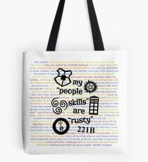 """My """"People Skills"""" are """"Rusty"""" V2 w/ Avatar & Firefly Tote Bag"""