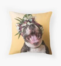 Flower Power, Luther laughing Throw Pillow