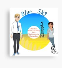 Portal Blue Sky Canvas Print