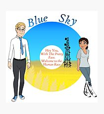 Portal Blue Sky Photographic Print