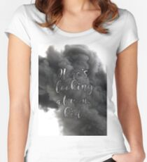 """""""Here's looking at you, kid"""" Women's Fitted Scoop T-Shirt"""