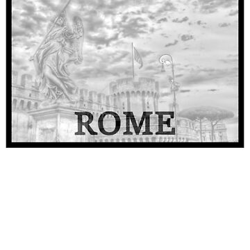 Rome Statue in Black and White by cutehuur