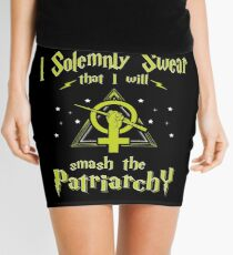 I Solemnly Swear That I Will Smash the Patriarchy  Mini Skirt