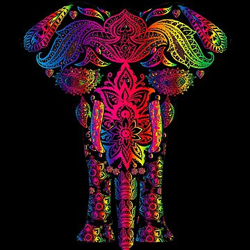 """Never Forget"" LGBTQ Rainbow Mandala Elephant by boundlesstees"