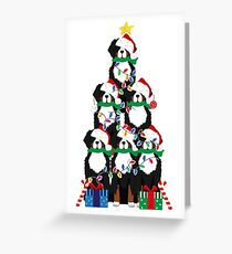 Holiday Bernese Mountain Dog Puppy Christmas Tree Greeting Card
