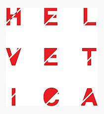 Helvetica Photographic Print