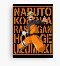 Naruto Logo Canvas Print