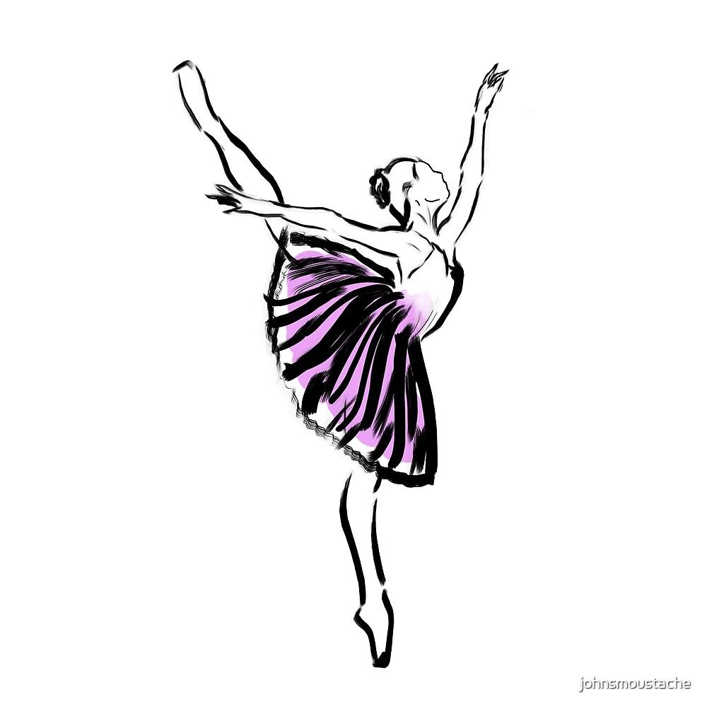 Ballerina Drawing By Johnsmoustache Redbubble