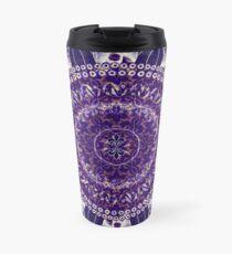 Königliches lila Mandala Thermobecher