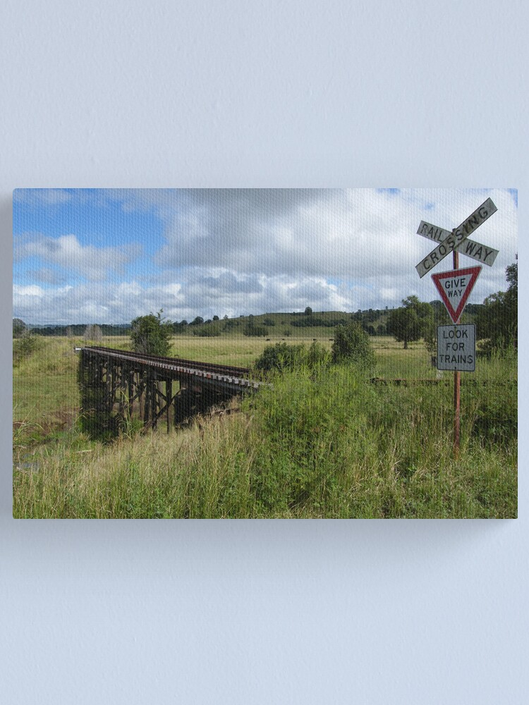 Alternate view of Look for Trains Canvas Print