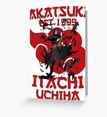 Itachi Uchiha Akatsuki Greeting Card