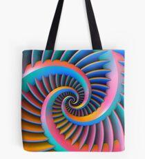 Opposing Spiral Pattern in 3-D Tote Bag