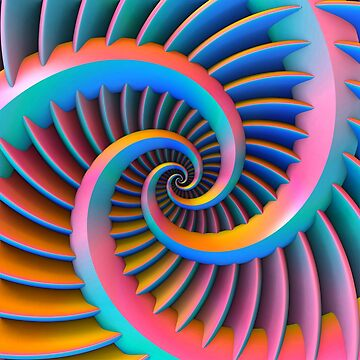 Opposing Spiral Pattern in 3-D by lyle58