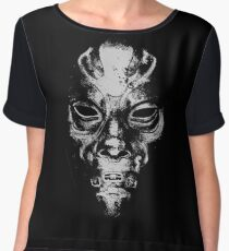 Death Eater Mask Women's Chiffon Top