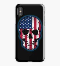 Vintage USA Flag Skull Design iPhone Case/Skin