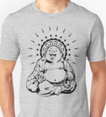 Sunburst glücklicher Buddha Slim Fit T-Shirt