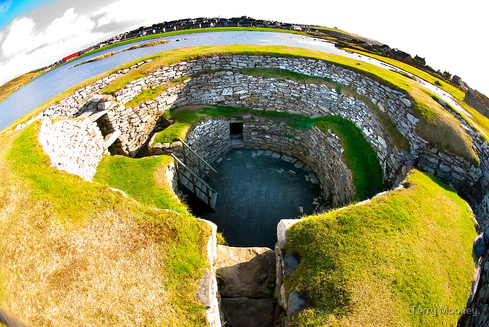 The Clickimin Broch by Terry Mooney