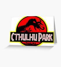 Cthulhu Park Greeting Card