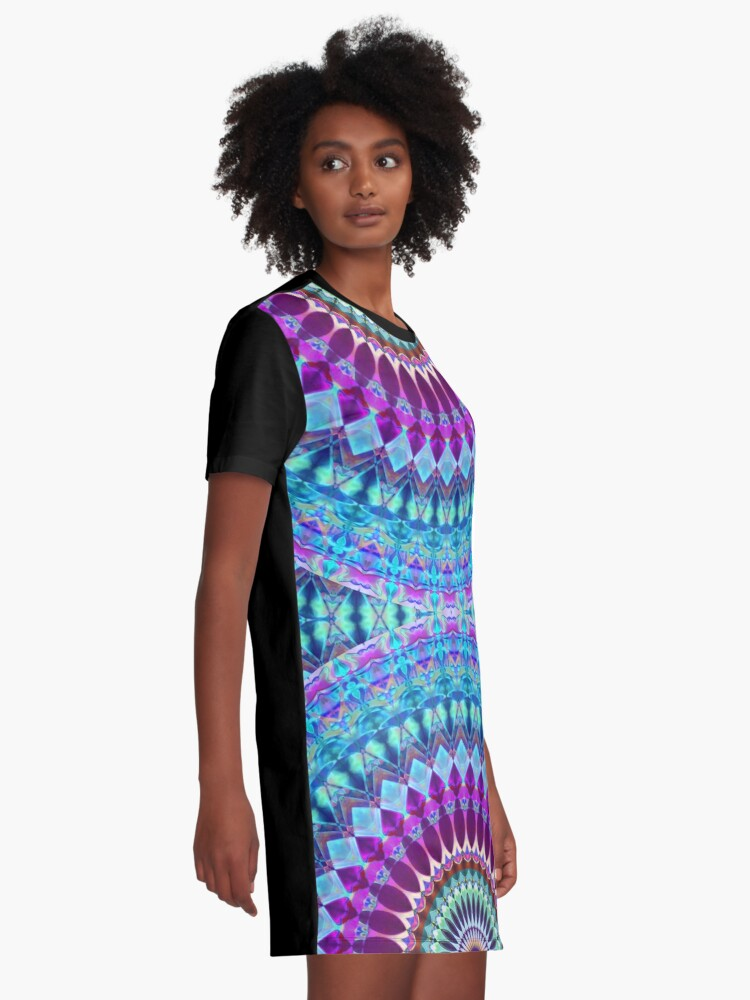 Alternate view of Geometric Mandala Graphic T-Shirt Dress