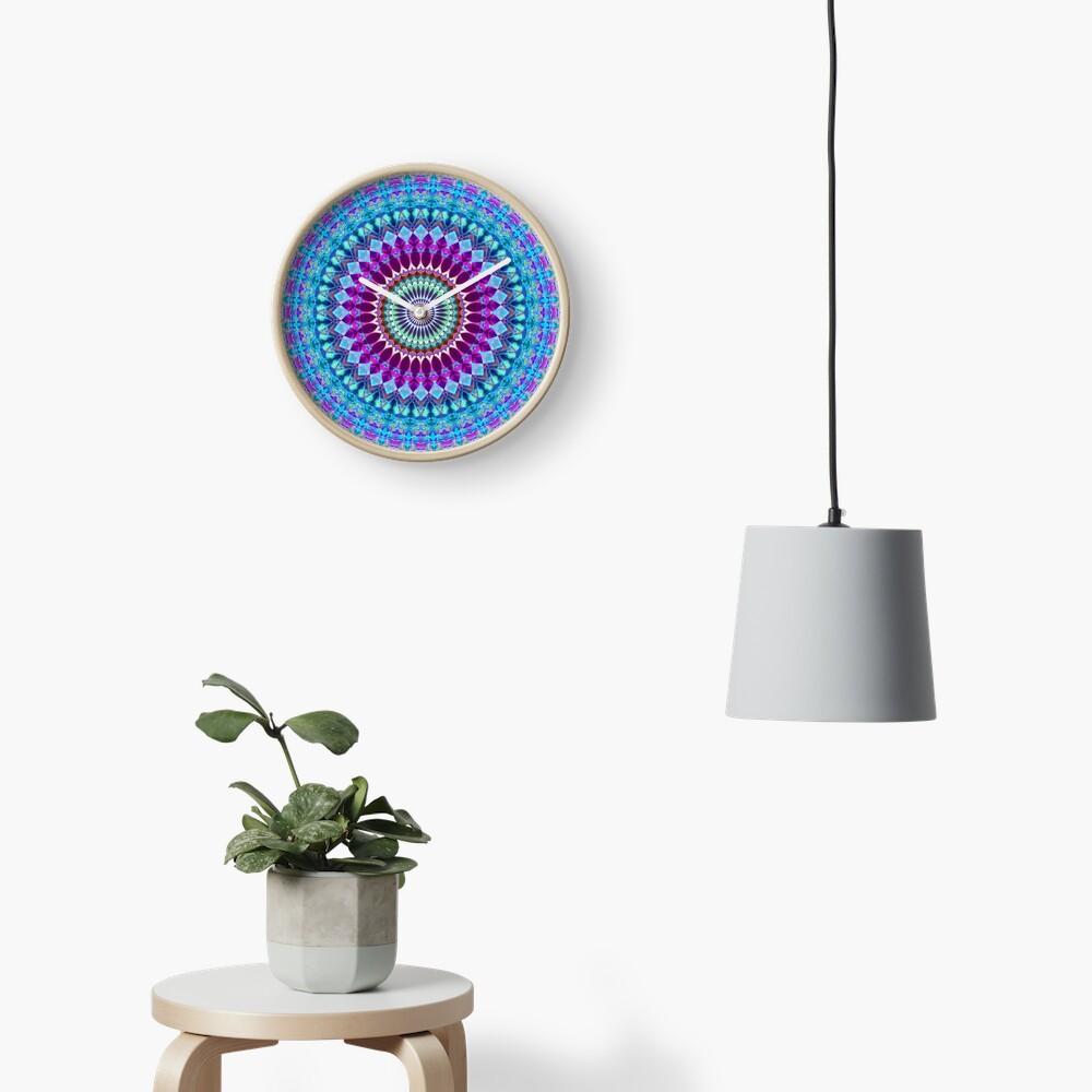 Geometric Mandala Clock