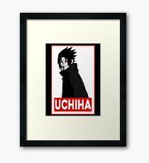Uchiha Obey Logo Framed Print