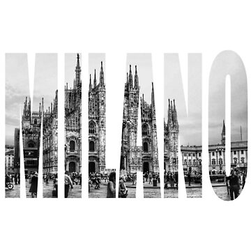 MILANO DUOMO Black and White LOGO by cutehuur