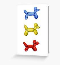 Balloon Dogs Greeting Card