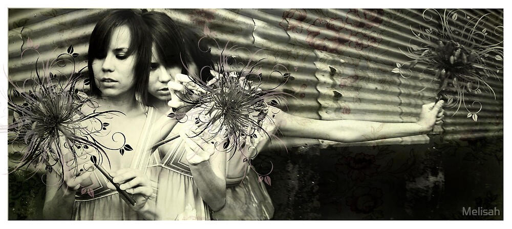 Girl ponders petals by Melisah