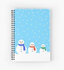 Christmas Snowmen Spiral Notebook